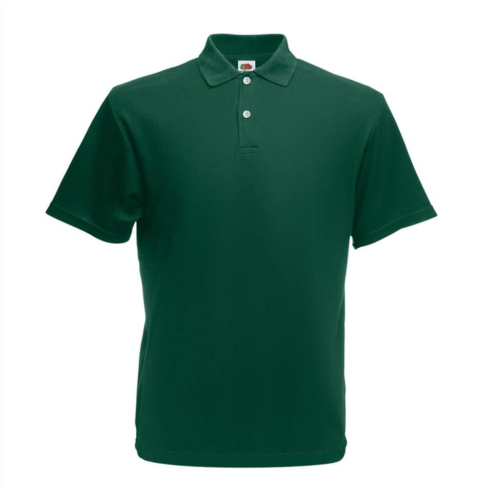 Fruit of the Loom 5 pcs Original Men's Polo Shirts Forest Green L