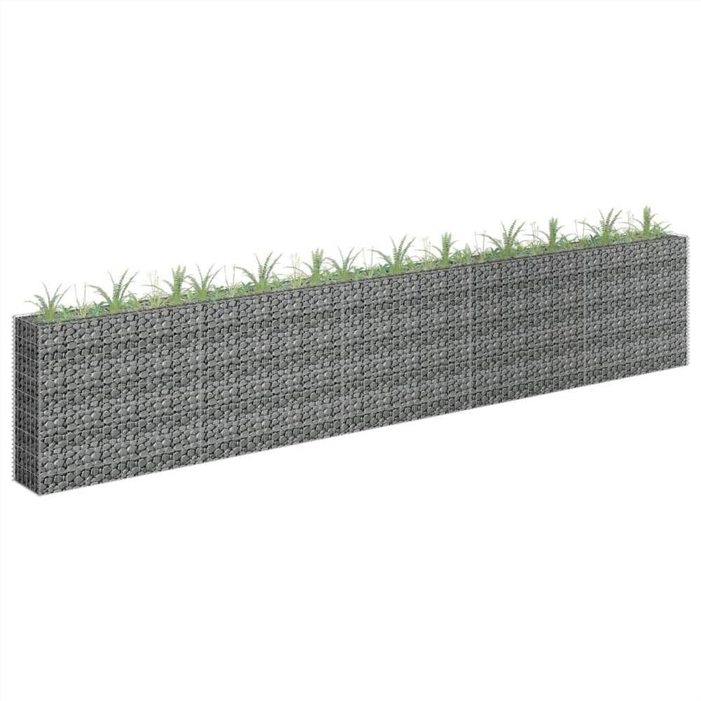 Gabion Raised Bed Galvanised Steel 450x30x90 cm