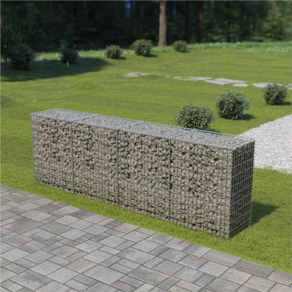Gabion Wall with Covers Galvanised Steel 300x50x100 cm