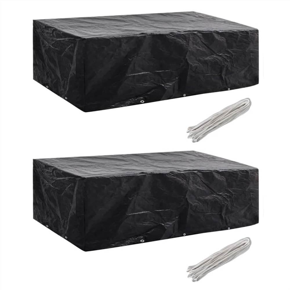 Garden Furniture Covers 2pcs 8 Person Poly Rattan 300x140 cm