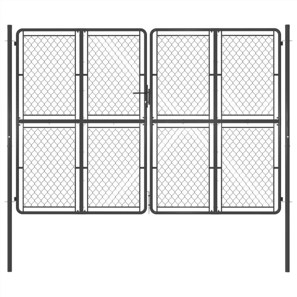 Garden Gate Steel 300x200 cm Anthracite