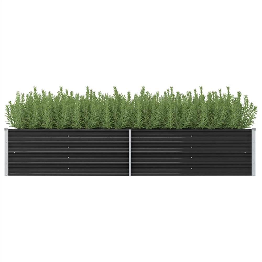 ガーデンレイズドベッド無煙炭240x80x45cm亜鉛メッキ鋼