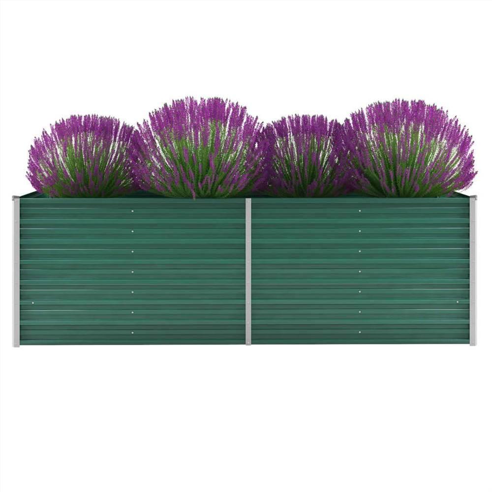 ガーデンレイズドベッド亜鉛メッキ鋼240x80x77cmグリーン