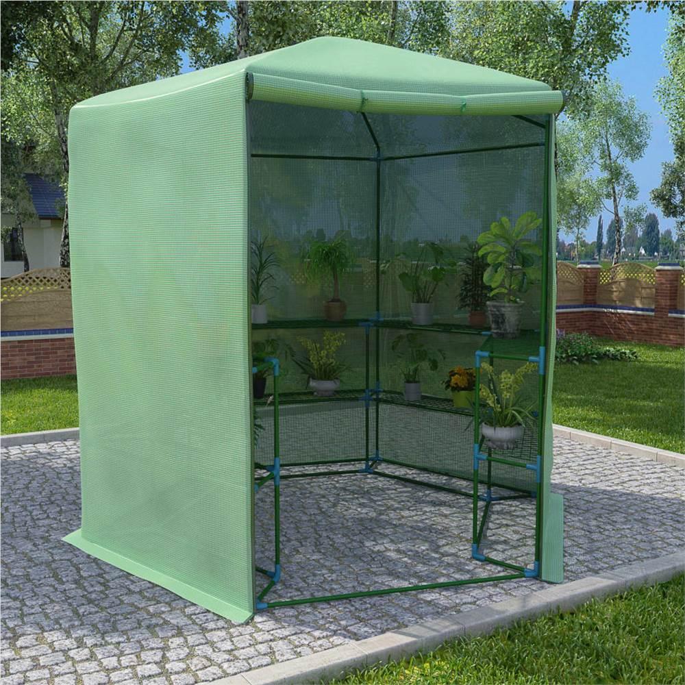 棚付き温室鋼227x223cm