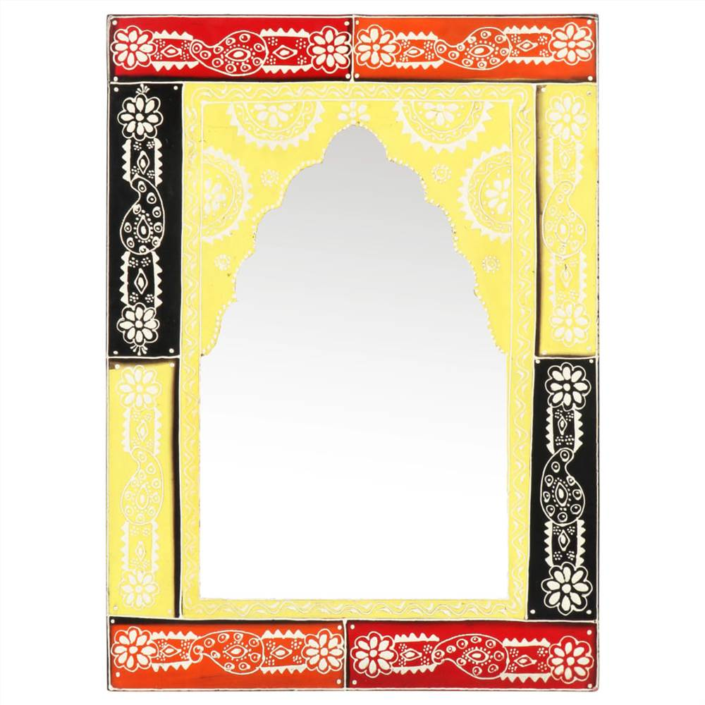 Hand Painted Mirror 40x55 cm Solid Mango Wood