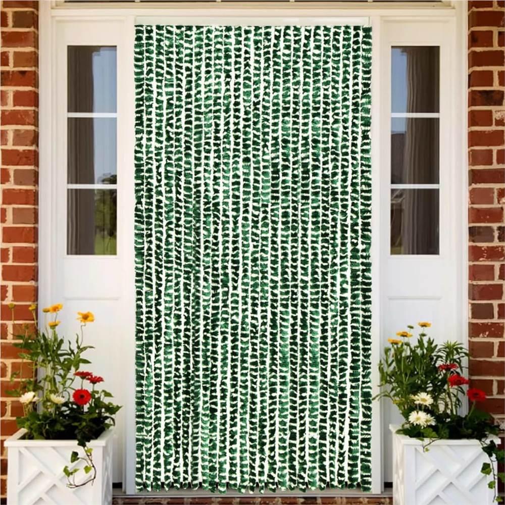 Rideau Insecte Vert et Blanc 100x220 cm Chenille