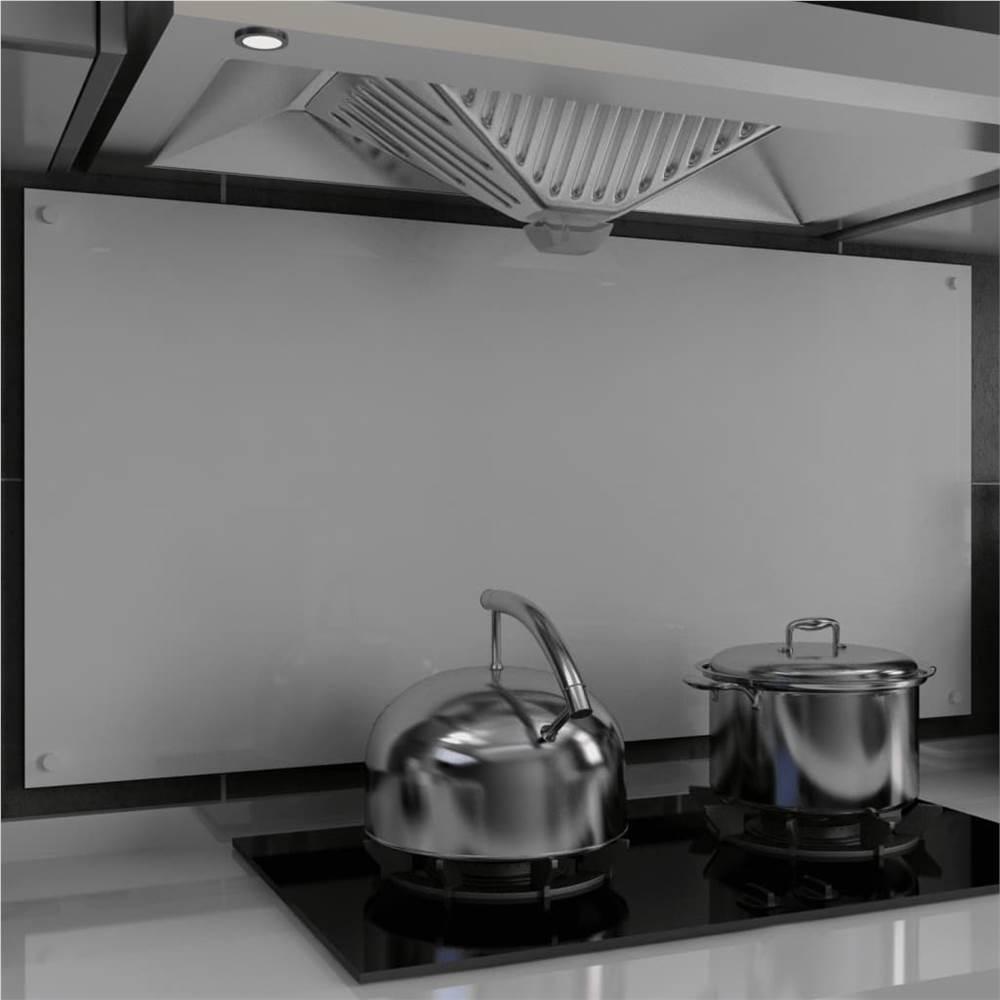 キッチンバックスプラッシュホワイト120x60cm強化ガラス