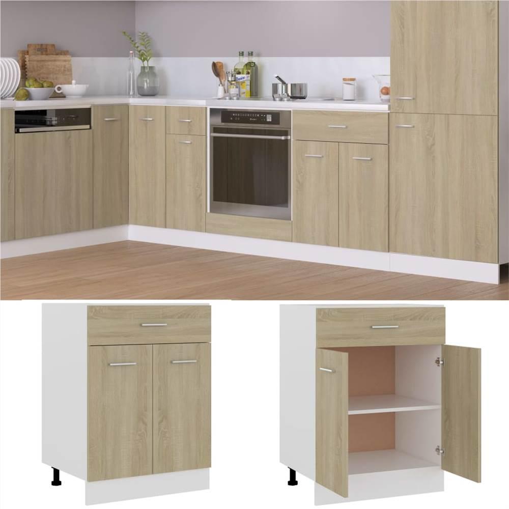 Küchenschrank Sonoma Oak 60x46x81.5 cm Spanplatte