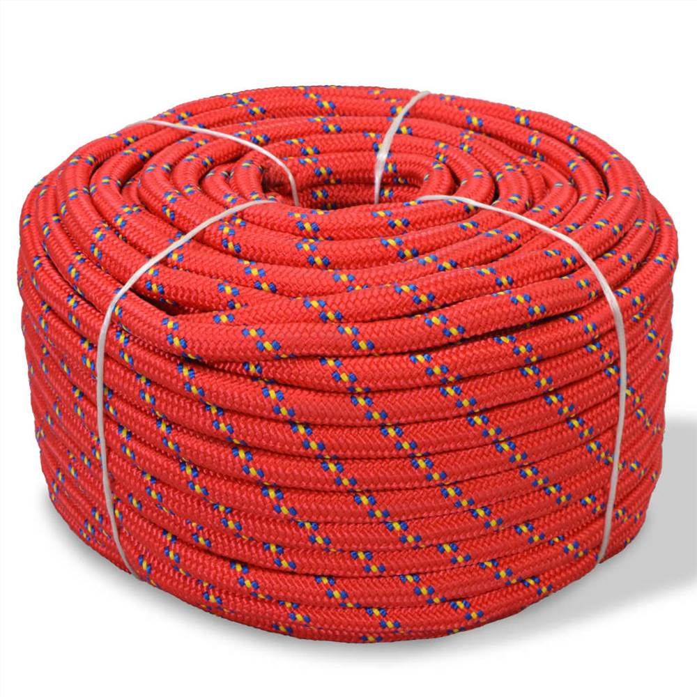 Marine Rope Polypropylene 12 mm 50 m Red