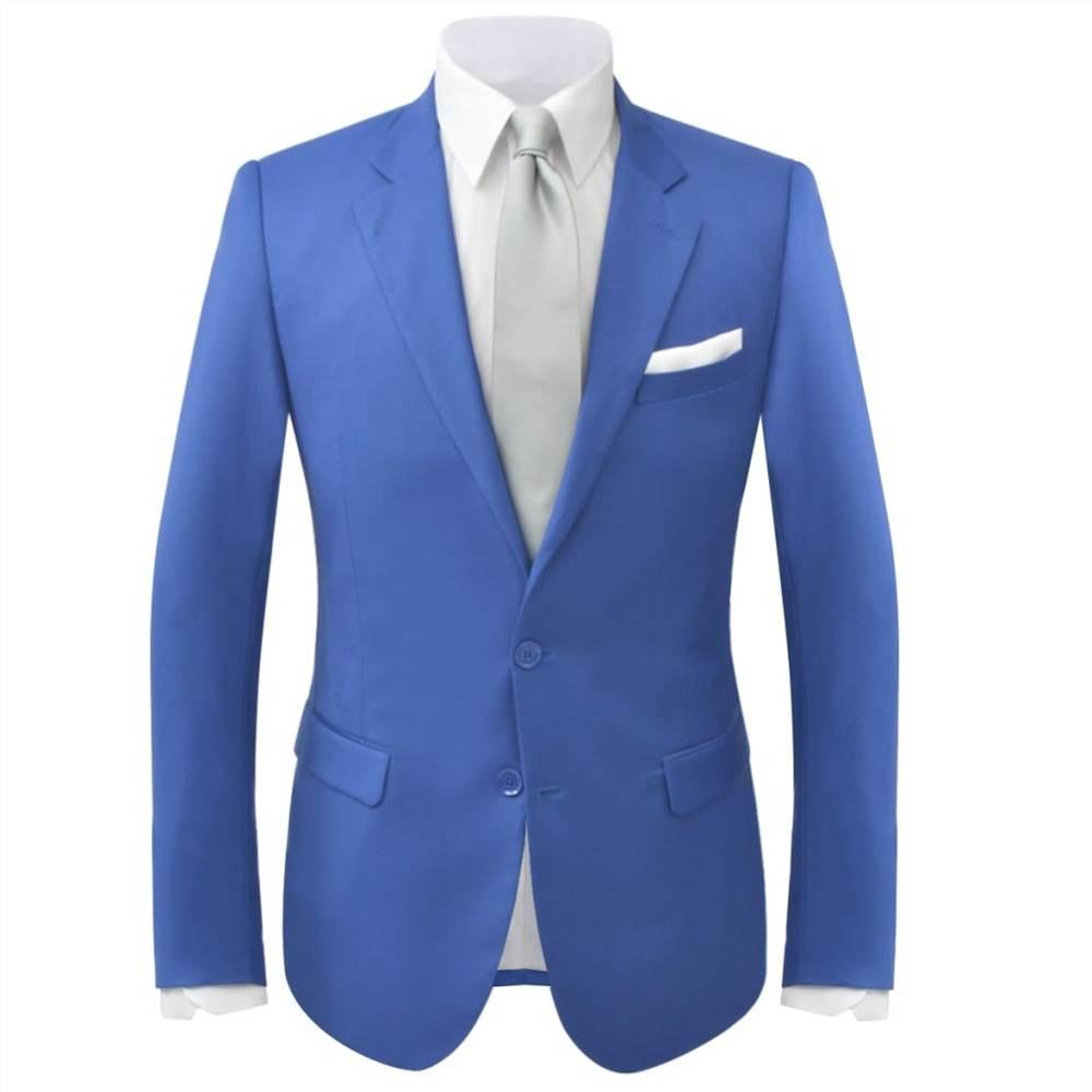 Men S Two Piece Suit Royal Blue Size 46