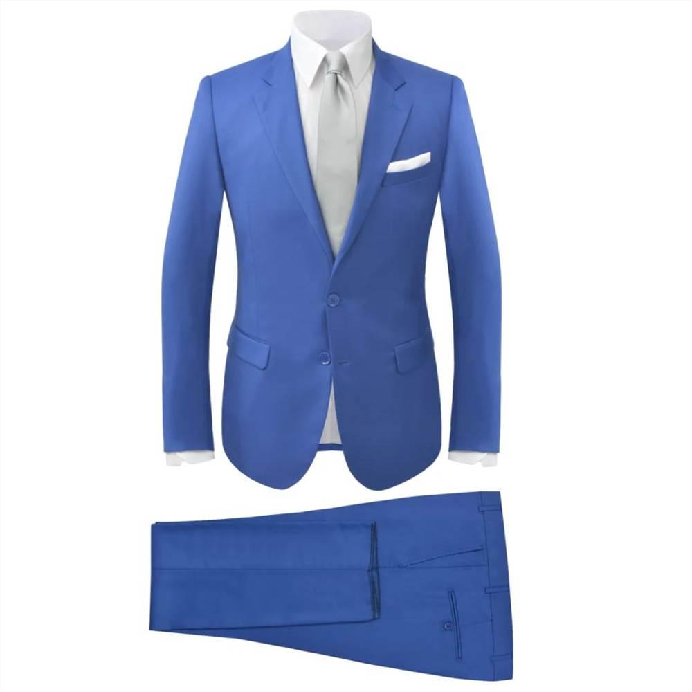 Men S Two Piece Suit Royal Blue Size 56