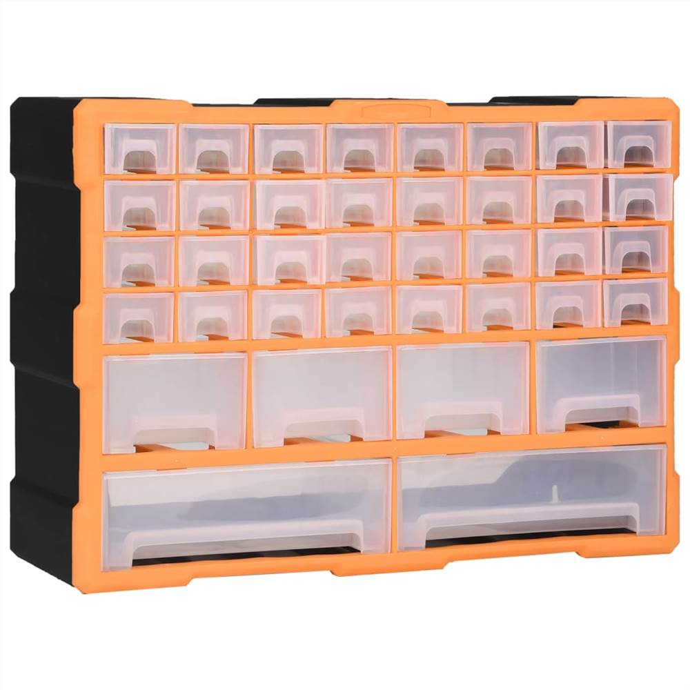 Multi-drawer Organiser with 40 Drawers 52x16x37.5 cm
