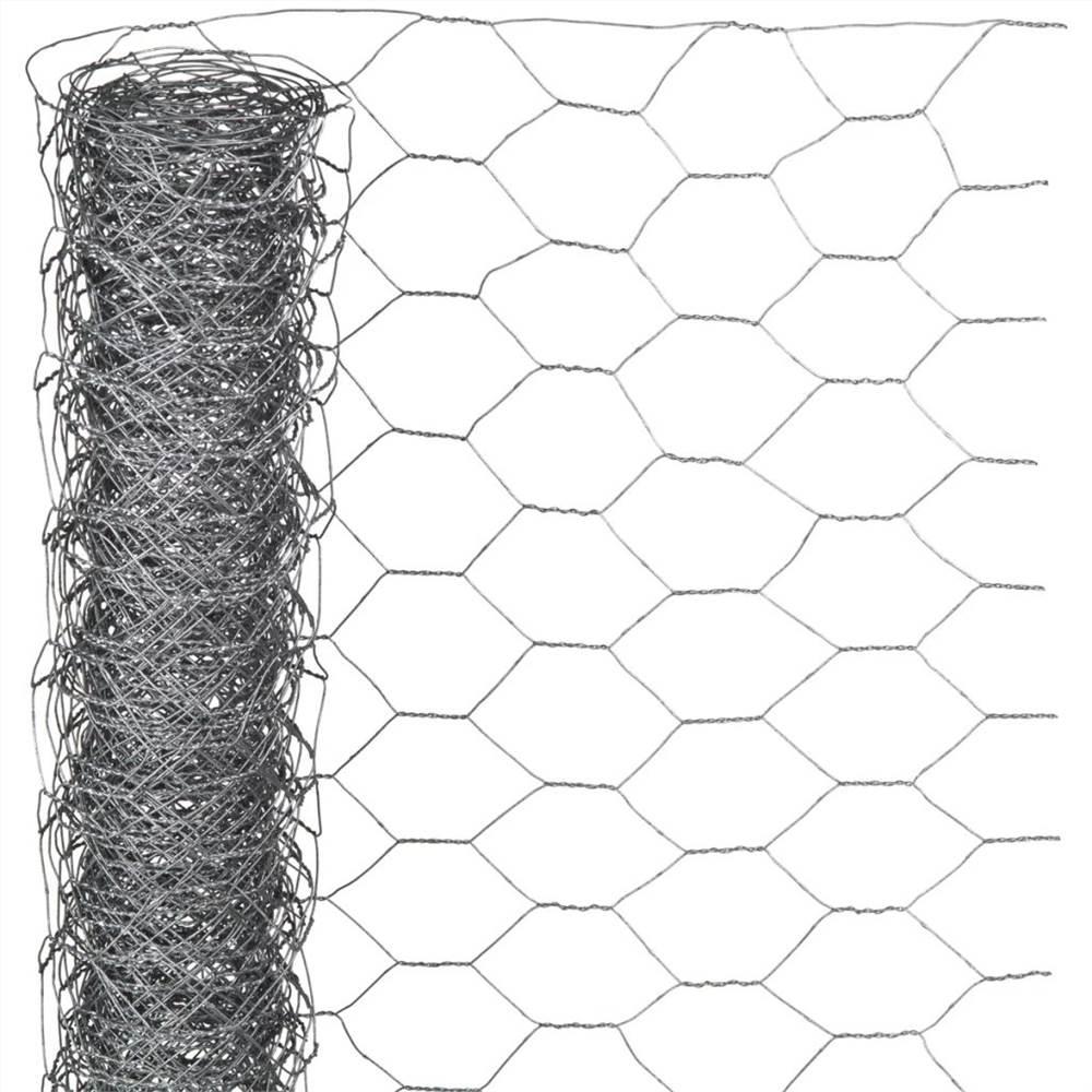 Acier galvanisé hexagonal de grillage de la nature 0.5x5 m 25 millimètres
