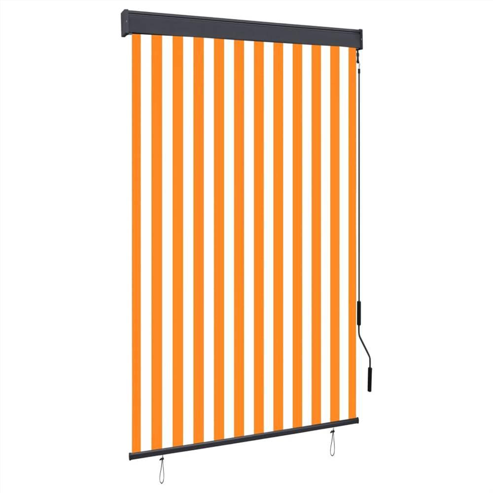 Outdoor Roller Blind 120x250 cm White and Orange