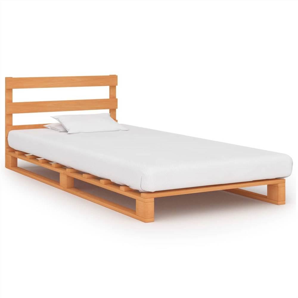 Pallet Bed Frame Brown Solid Pine Wood 90x200 cm