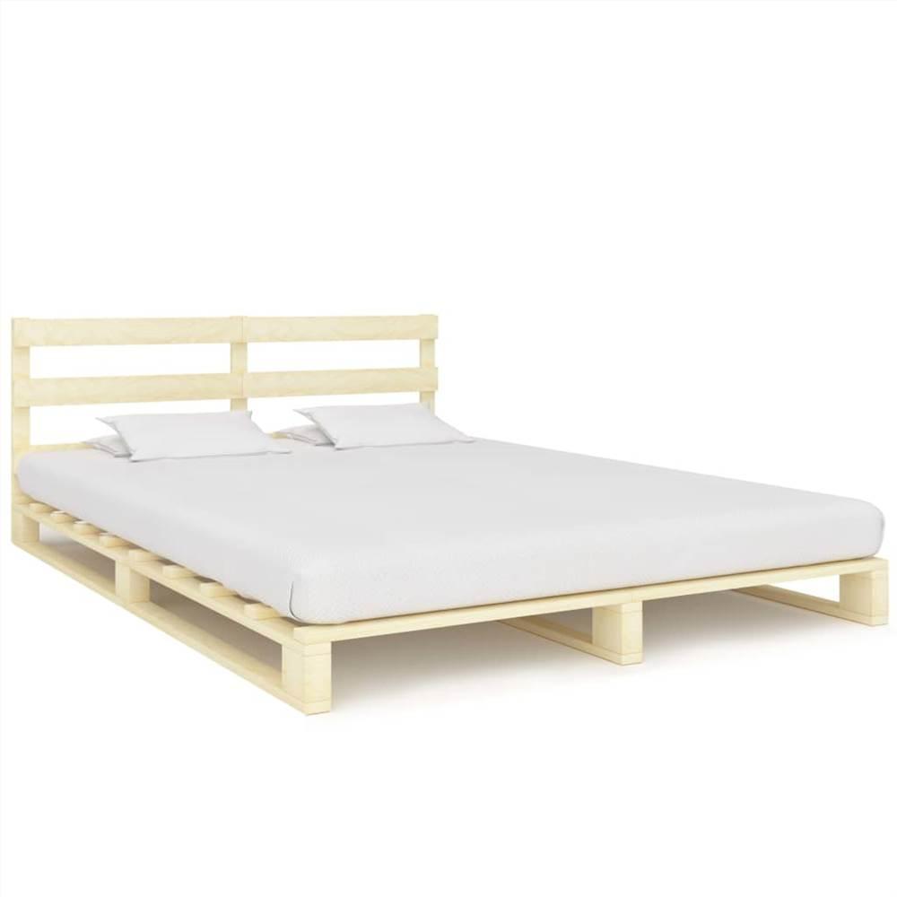 Pallet Bed Frame Solid Pine Wood 160x200 cm