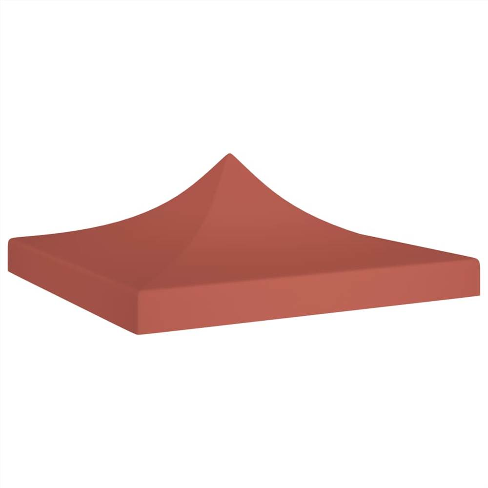 Party Tent Roof 3x3 m Terracotta 270 g/m²