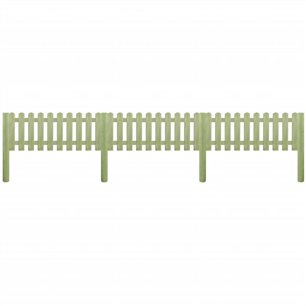 Picket Fence Impregnated Pinewood 5.1 m 110 cm 6/9cm