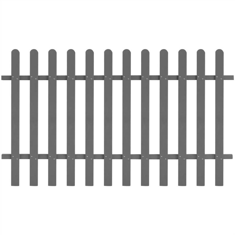 Clôture à piquets WPC 200x120 cm