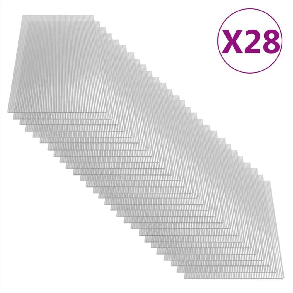 Feuilles de polycarbonate 28 pcs 4 mm 121x60 cm