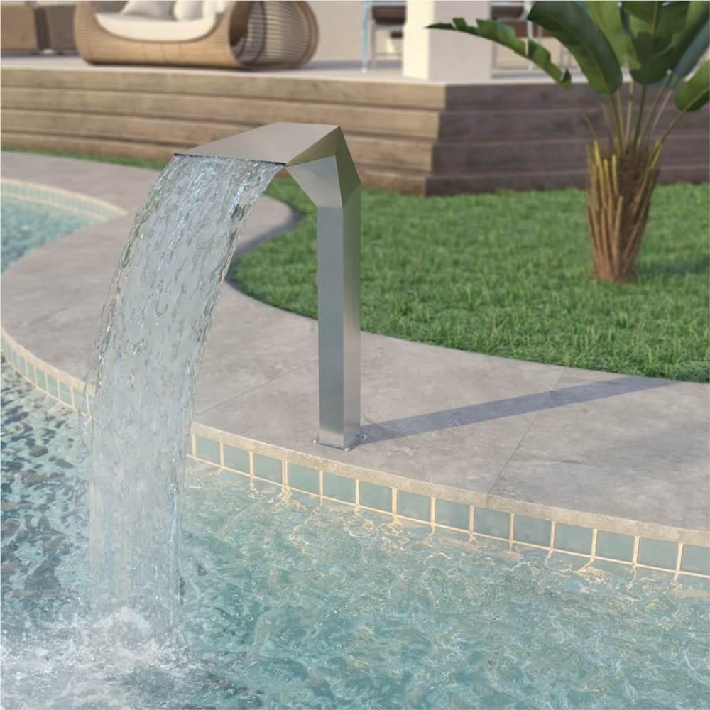 Fontaine de piscine Inox 50x30x90 cm Argent
