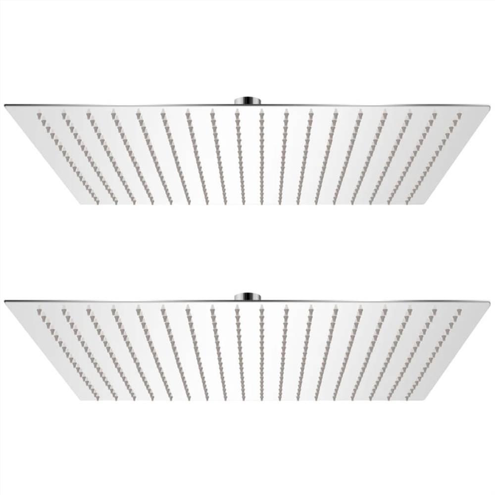 Rain Shower Head 2 pcs Stainless Steel 50x50 cm
