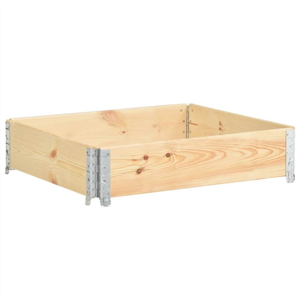 レイズドベッド100x100cm無垢材(310056)