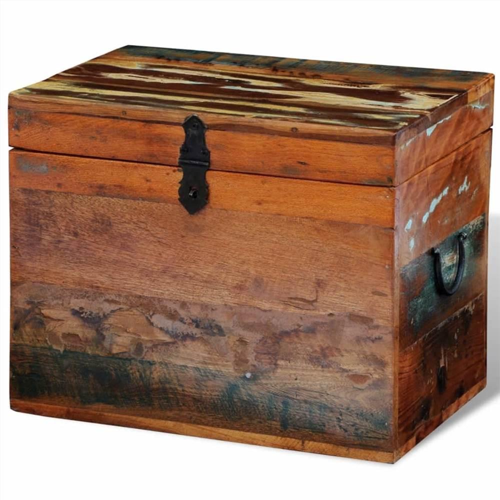 Aufgearbeitete Aufbewahrungsbox Massivholz