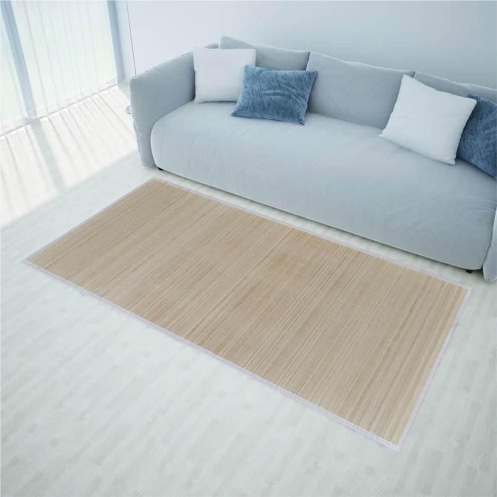 Tapete retangular de bambu natural 80 x 300 cm
