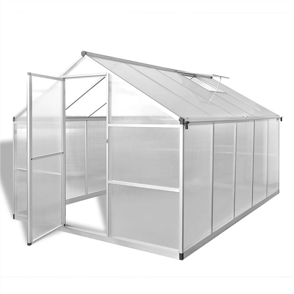 Reinforced Aluminium Greenhouse with Base Frame 7.55 m²
