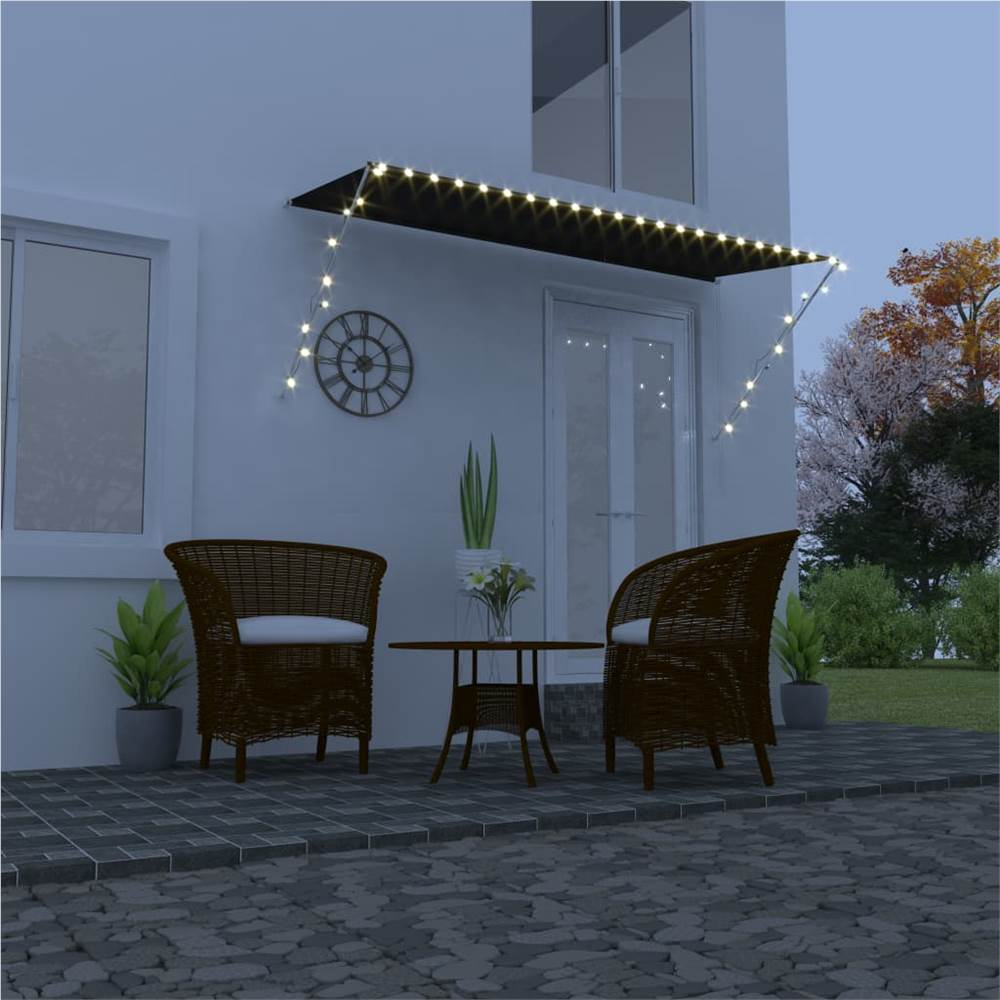 Retractable Awning with LED 300x150 cm Anthracite