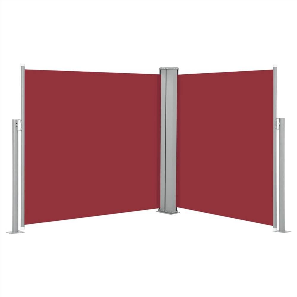 Auvent Latéral Rétractable Rouge 100x600 cm