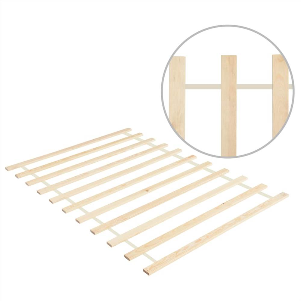 Sommier enroulable 11 lattes 120x200 cm Pin massif