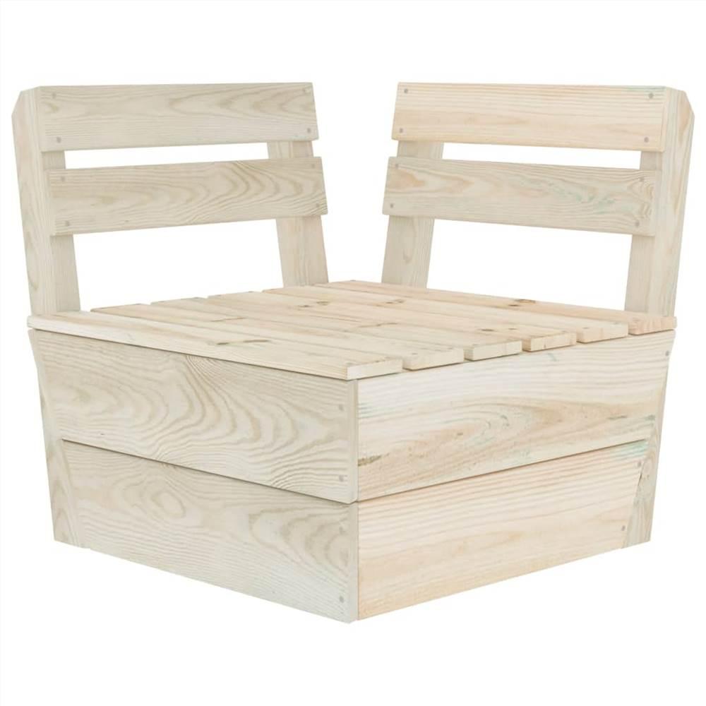 Canapé composable d'angle en palette en bois d'épicéa imprégné