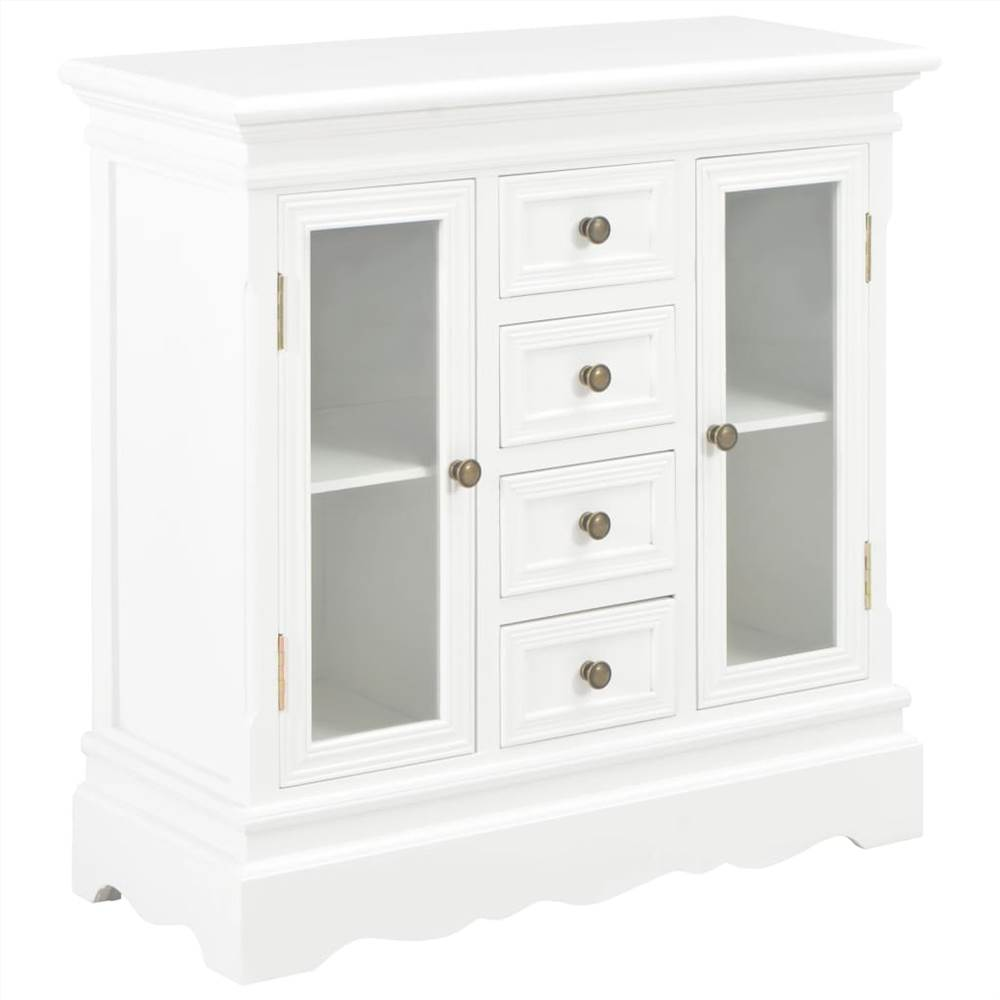 Sideboard White 70x28x70 cm Solid Pine Wood