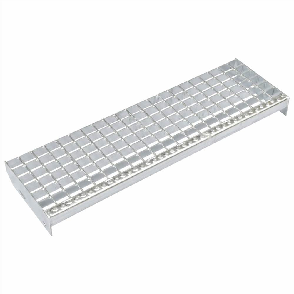Stair Treads 4 pcs Forge-welded Galvanised Steel 600x240 mm