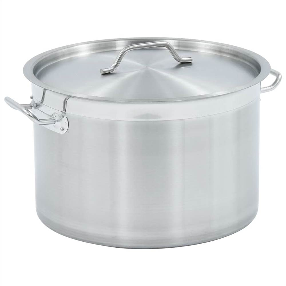 Stock Pot 32 L 40x26 cm Stainless Steel