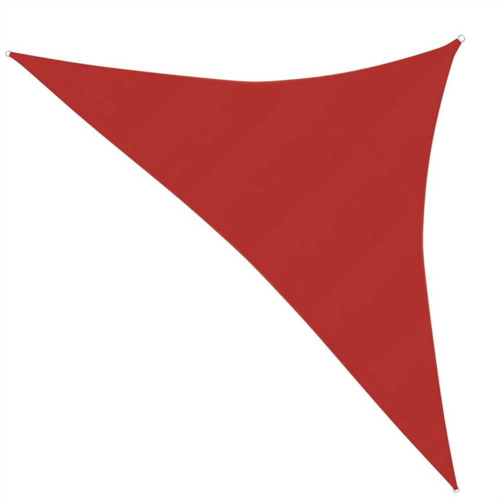 Pare-soleil Voile 160 g / m² Rouge 2.5x2.5x3.5 m PEHD