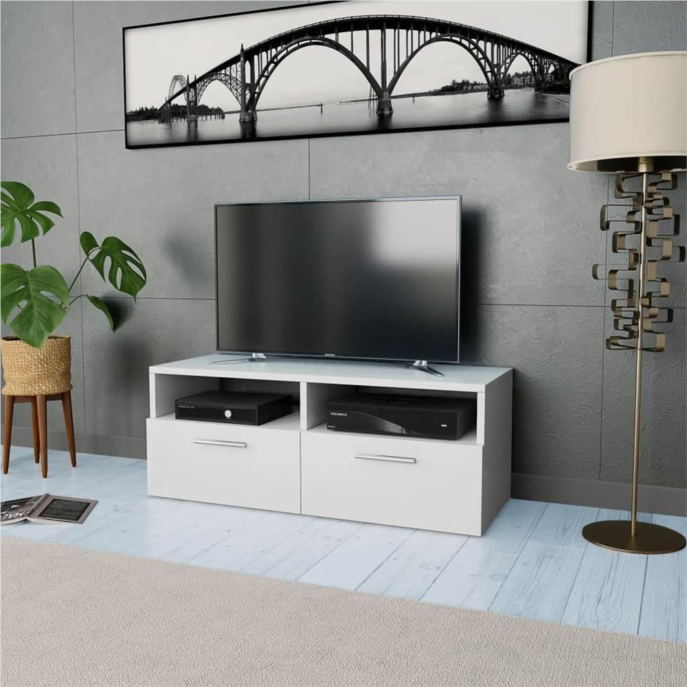 TV Cabinet Chipboard 95x35x36 cm White