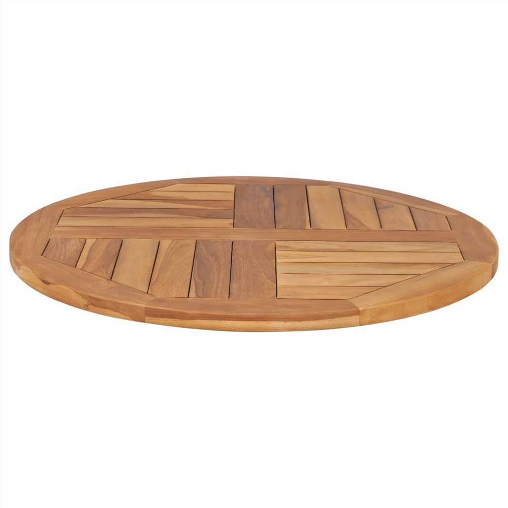 Table Top Solid Teak Wood Round 2 5 Cm 70 Cm