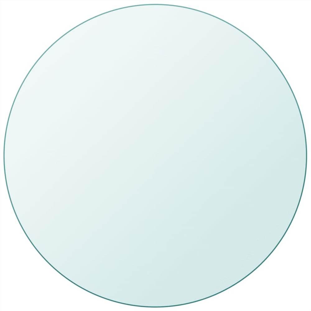 Tischplatte gehärtetes Glas rund 600 mm