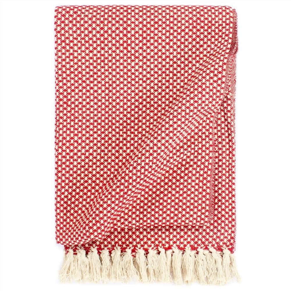 Ρίξτε Βαμβάκι 160x210 cm Κόκκινο