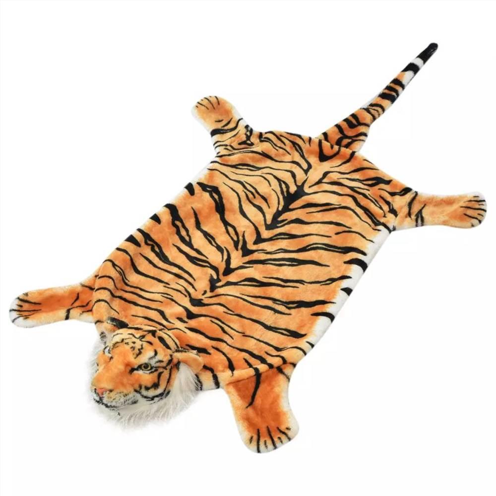 Tiger Teppich Plüsch 144 cm Braun