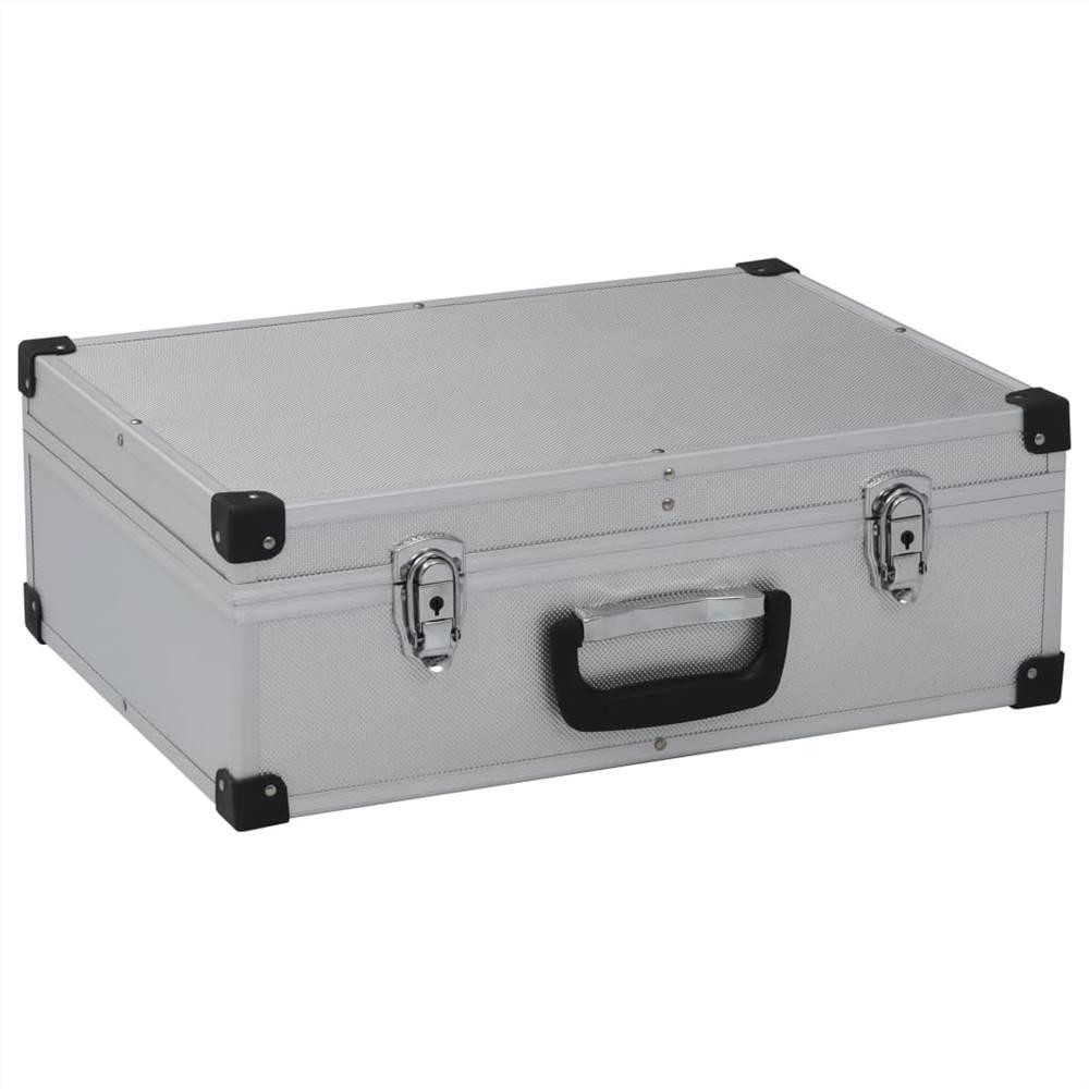 Tool Suitcase 46x33x16 cm Silver Aluminium