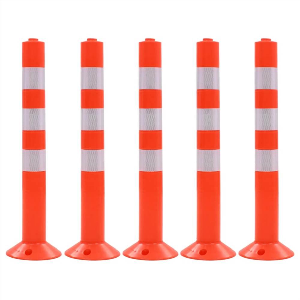 Bornes de contrôle de la circulation 5 pièces Plastique 75 cm