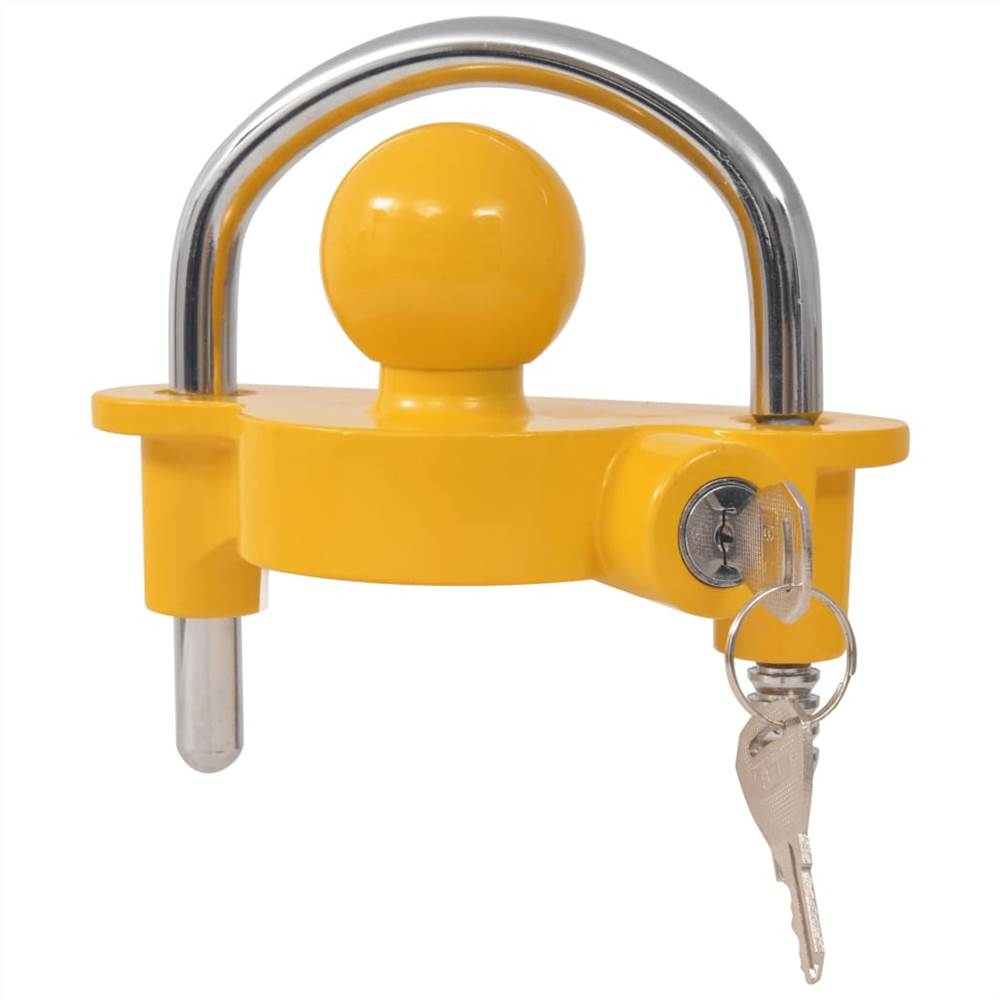 Κλειδαριά ρυμουλκούμενου με 2 κλειδιά χάλυβα και κράμα αλουμινίου κίτρινο