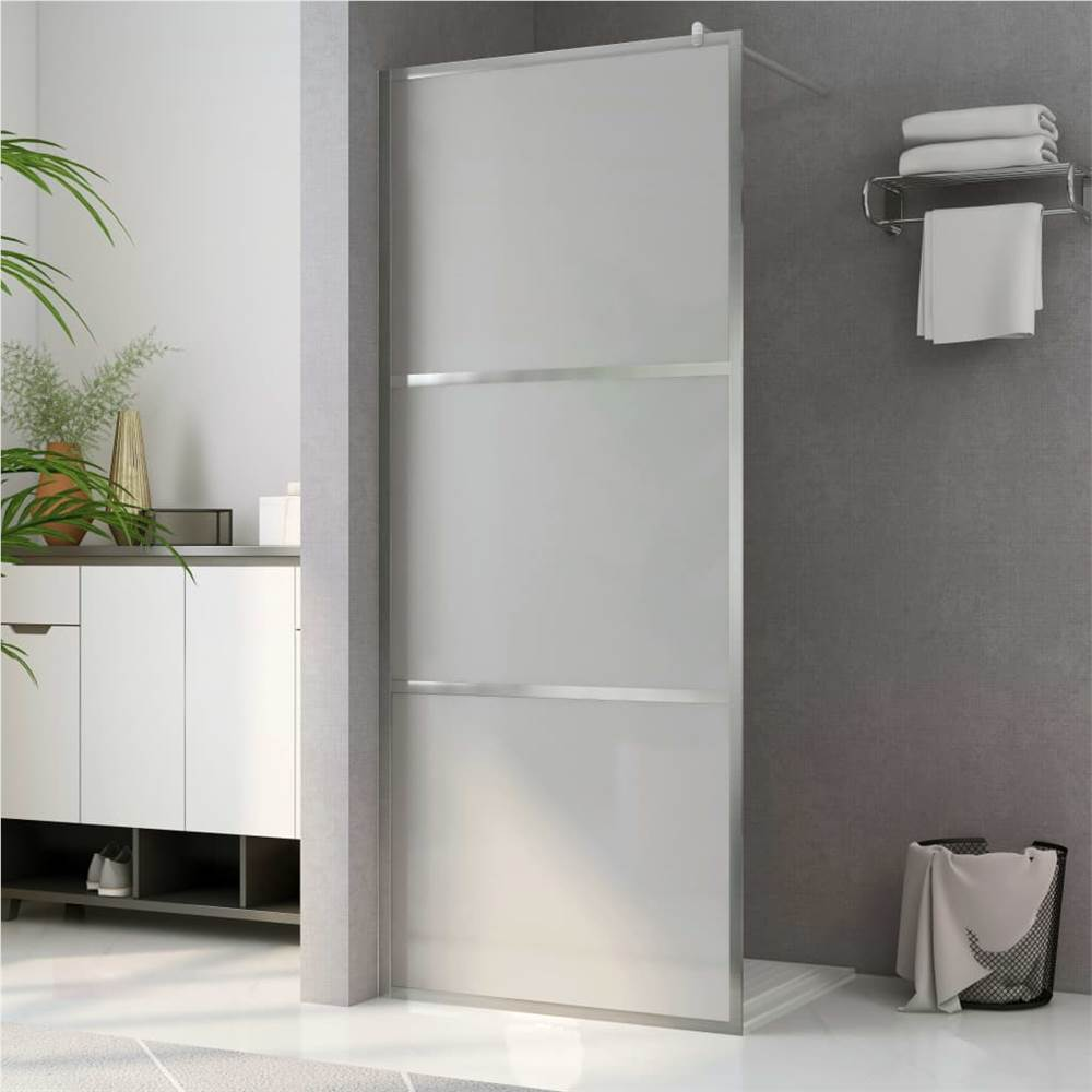 Walk-in Shower Wall with Whole Frosted ESG Glass 140x195 cm