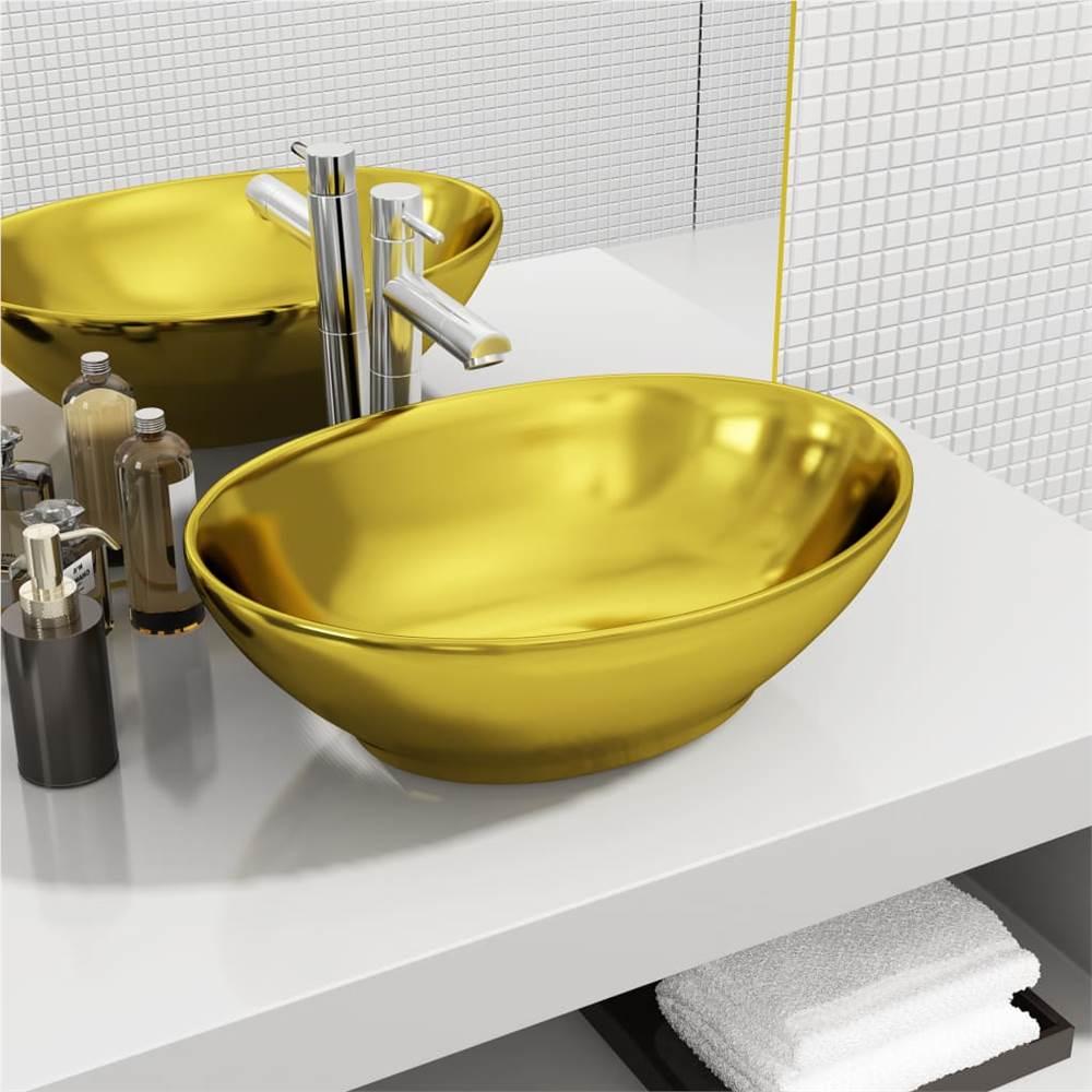 Wash Basin 40x33x13.5 cm Ceramic Gold