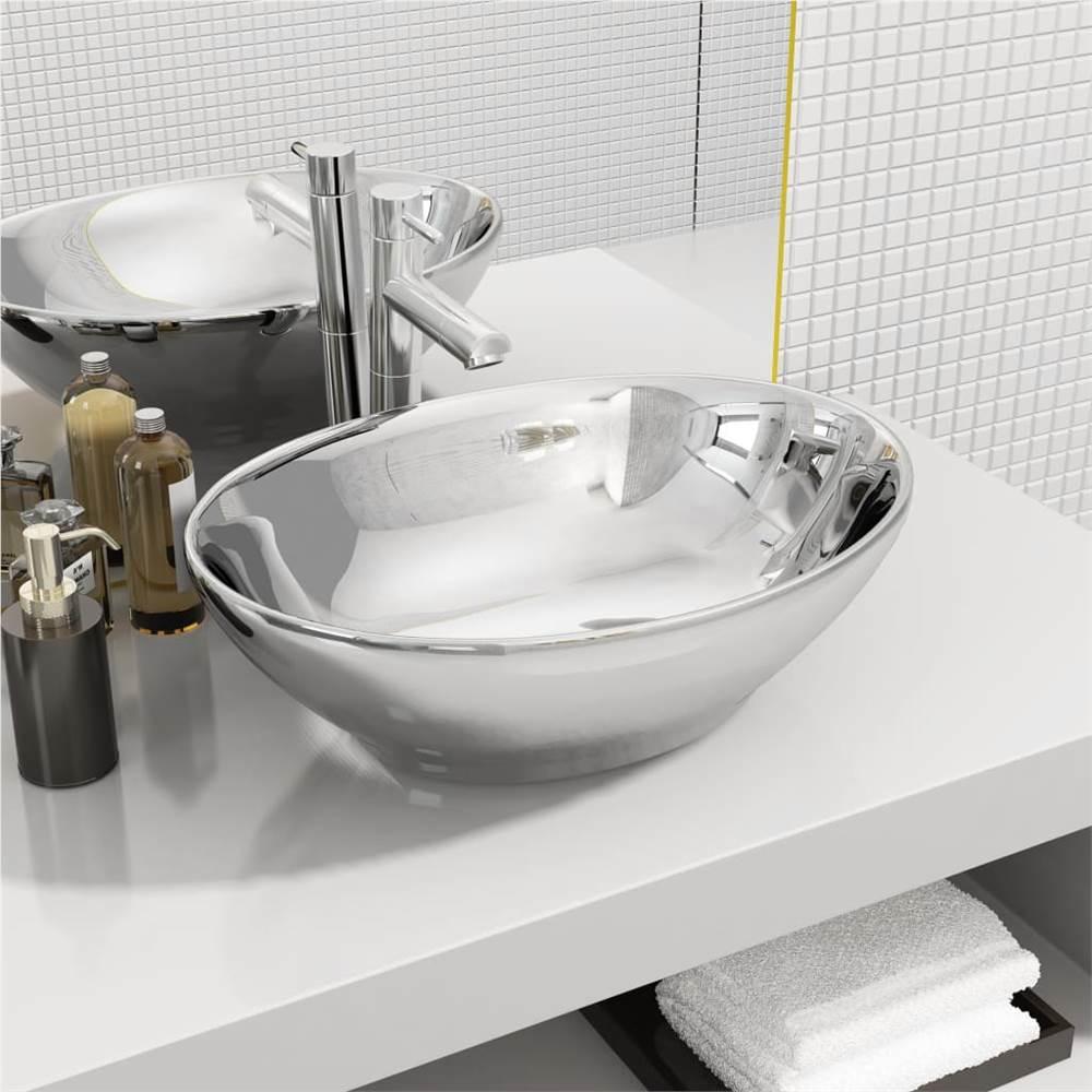 Wash Basin 40x33x13.5 cm Ceramic Silver
