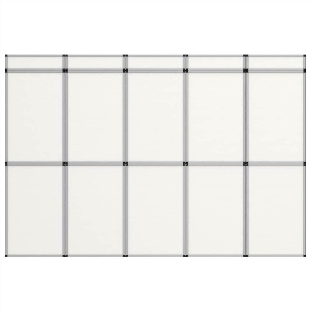 15-Panel Folding Exhibition Display Wall 302x200 cm White